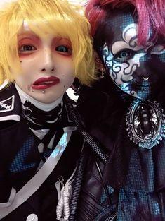 Reiki and Kyonosuke Japanese Streets, Japanese Street Fashion, Reiki, Gackt, Japan Fashion, Visual Kei, Halloween Face Makeup, Street Style, Bands