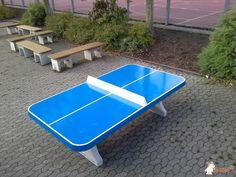 Pingpongtafel Afgerond Blauw bij Gemeinschaftsschule Illingen in Illingen