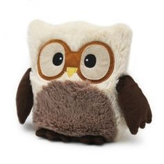 """Peluche Bouillotte Micro-Ondes """"Hibou ivoire"""" by SOFRAMAR"""