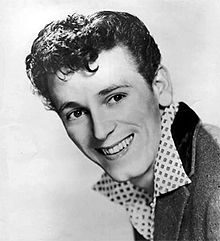 """Gene Vincent (Vincent Eugene Craddock) - an American musician that pioneered rock and roll and rockabilly. He had a 1956 hit with """"Be-Bop-A-Lula"""". He is a member of the Rock and Roll Hall of Fame and the Rockabilly Hall of Fame. Died 1971."""