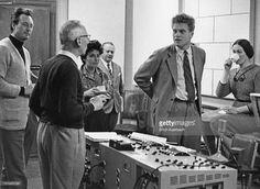 Musicians at a recording session for Mozart's 'Don Giovanni', 14th October 1959. Among the group are: conductor Carlo Maria Giulini (1914 – 2005, far left), Italian soprano Graziella Sciutti (1927 – 2001, third from left), Austrian baritone Eberhard Wachter (1929 – 1992, second from right) and Australian soprano Joan Sutherland (1926 – 2010, far right).