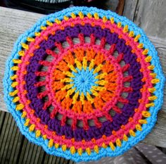 Mexican sunset mandala for Yarndale