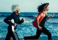 No excuses 96 y/o jogging with 60 y/o daughter