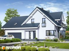 Dom w tamaryszkach 2 My House Plans, Home Fashion, New Homes, Exterior, How To Plan, Mansions, House Styles, Houses, Home Decor