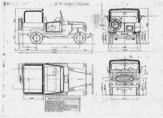 Toyota Land Cruiser J40 1960-84 Blueprint - Download free blueprint for 3D modeling