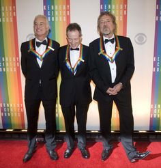Led Zeppelin: Jimmy Page ~ John Paul Jones ~ Robert Plant. 2012 Kennedy Center Honoree's