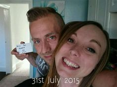 Man Hides Marriage Proposal In Every Photo Taken With Girlfriend For Months - Neatorama