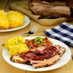 Oven Slow-Cooked BBQ Beef Brisket — outdoor flavor cooked indoors.