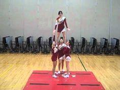 Twist up. Hop over teddy bear. Show-n-go. Extension w 1 handed bases. Cool Cheer Stunts, Cheerleading Jumps, College Cheerleading, Cheer Pics, Cheer Stuff, Cheerleading Cheers, Cheer Coaches, Cheer Mom, Cheer Hair