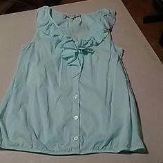 ANN TAYLOR LOFT Small Mint green sleeveless blouse LOFT Tops Button Down Shirts