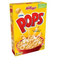 Kellogg's Corn Pops Cereal, ounce, (Pack of shell Breakfast Cereal, Breakfast On The Go, Eat Breakfast, Breakfast Healthy, Corn Pops Cereal, Cereal Boxes, Balanced Breakfast, Snack Bowls, Party Snacks
