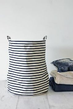 Striped Laundry Storage Basket - £15 Rocket St George