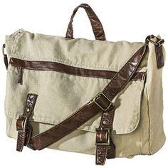 Mossimo Supply Co. Solid Messenger Bag - Khaki