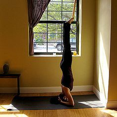 all of the steps/yoga poses leading up to doing a headstand... working into it.... I will do this..... soon....