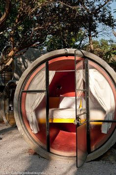 Tubohotel, a hotel made of tubes 45 mins south of Mexico City ......interesting concept  (from http://design-milk.com/destination-design-tubohotel)