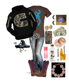 A fashion look from February 2017 featuring pullover hoodies, crewneck shirt and ripped jeans. Browse and shop related looks. Country Style Outfits, Country Wear, Country Girl Style, Country Fashion, My Style, Camo Outfits, Cowgirl Outfits, Western Outfits, Cowgirl Clothing