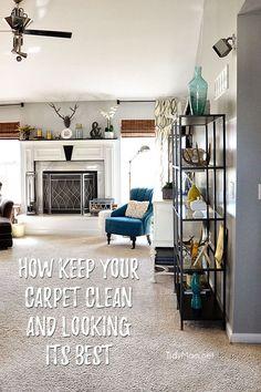 Best Way To Clean Carpet Runners Beige Carpet, New Carpet, Rugs On Carpet, Carpets, House Cleaning Tips, Cleaning Hacks, Spring Cleaning, Carpet Samples, Homekeeping