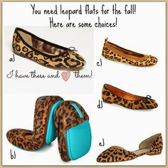 Leopard flat choices! Sources on blog...