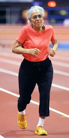 Ida Keeling (age 102) is an American track and field athlete. She holds Masters records in 60 meter and 100 meter distances for women in the 95-99 and 100-plus age groups