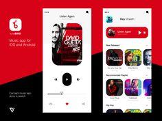 Music Player designed by vineeth. Ui Design Mobile, App Ui Design, Blog Design, Love Drug, Super Hero Outfits, Flat Ui, Music App, Screen Design, Ui Inspiration