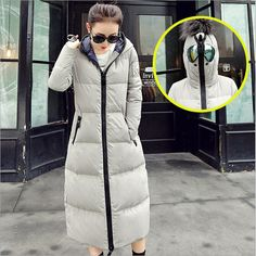 New Winter Jacket Women coats Hooded Real Down Coat Thicken Parka ...