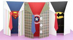 DIY Vatertagskarte mit Superhelden