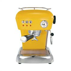 Dream, #aluminiun #hand_made #yellow #coffee_machine, by Marc Aranyo, for Ascaso Factory
