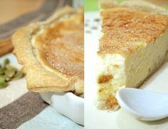 South African melktert (Milk Tart) - baked version, for Thanksgiving