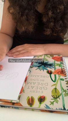 Pink Pig Sketchbook, Color Inspiration, Sketchbooks, Flowers, Handmade, Design, Hand Made, Sketch Books
