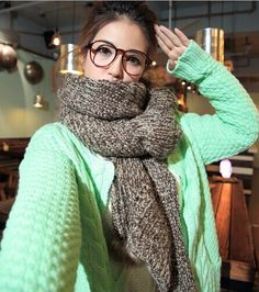 Morpheus Boutique  - New Knit Handmade Warm Shawl Long Scarf Wrap