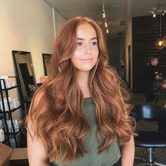 auburn hair American Salon on Instagra - haar Ginger Hair Color, Hair Color And Cut, Ombre Hair, Balayage Hair, Pastel Hair, Purple Hair, Haircolor, Underlights Hair, Hair Color Auburn