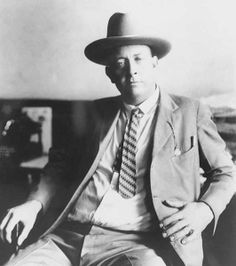 Former Texas Ranger, Frank Hamer,(taken in the 20s) who relentlessly tracked Bonnie and Clyde and set up the ambush