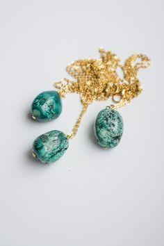 Turquoise Necklace Layering Necklace Layered Necklace by oliki