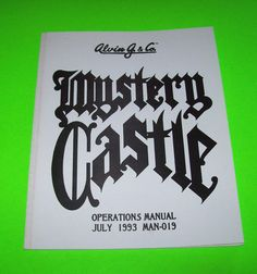 MYSTERY CASTLE By ALVIN G 1993 ORIGINAL NOS PINBALL MACHINE SERVICE MANUAL #mysterycastle #alving