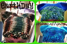 Earth Day Pussy Cat Hat in Crochet by FrecklesGarden March Resist Global Warming Climate Change Vaccines Science not silence Standing Rock Environment
