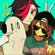 Mettaton, Frisk, and Blooky ^-^