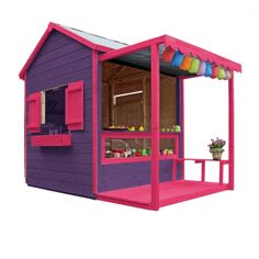 Maisonnette en bois Epicerie - CASTORAMA 329 €                                                                                                                                                                                 Plus