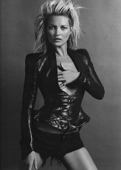 Kate Moss. In a French Vogue editorial, October 2009. Photographed by Inez van Lamsweerde and Vinoodh Matadin.