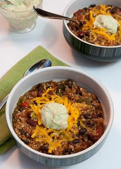 Vegetarian Quinoa Chili EDIT: made this.. so GOOD. I added sweet potatoes and a few more spices.