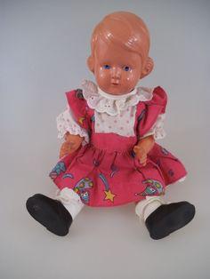 Schildkröt Puppe Inge 29 cm 50er 60er Jahre Celluloid (391e) | eBay