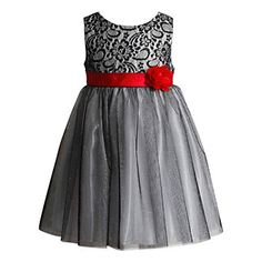 Girls 4-6x Youngland Sparkly Lace & Mesh Dress