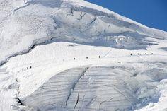 Jul 18-24, 2015  Mountaineers traversing a glacier near Saas-Fee, Switzerland. DOMINIC STEINMANN/KEYSTONE/ASSOCIATED PRESS