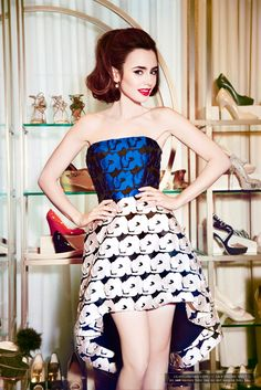 07. Glamour - Lily Collins-000009 Ellen von Unwerth Photoshoot for Glamour July 2013 - Lily Collins Gallery