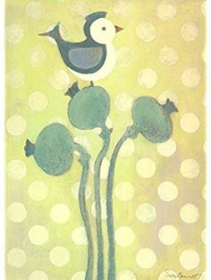 Oopsy Daisy Love Bird- Green Stretched Canvas Wall Art by Sally Bennett, 10 by *** More info could be found at the image url. (This is an affiliate link) Green Canvas Art, Bird Canvas, Green Wall Art, Canvas Wall Art, Canvas Prints, Art Prints, Daisy Love, Childrens Wall Art, Baby Wall Art