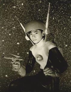 "Kiyotaka Mitsugi (三ツ木清隆 Mitsugi Kiyotaka) as Hikaru Azuma on ""Kousoku Esper"" (Lightspeed Esper). Arte Sci Fi, Sci Fi Art, Space Girl, Space Age, Japanese Monster, Live Action, We Are The World, Science Fiction Art, Old Tv"