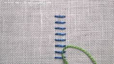 Raised Stem Stitch Band Video by Mary Corbet