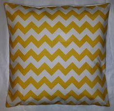 Cushion Cover in Riley Blake Yellow Chevron Stripe 14 | Etsy