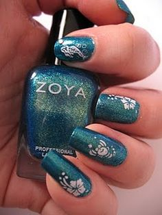 Mermaid Nail Design http://moondancerjen.blogspot.com