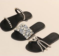 Mystique Sandals, Black Sandals, Style Ideas, Slippers, Footwear, Shoe, Flats, Ring, Shirts