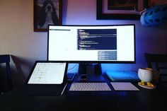 That screen tho!! --- #desksetup #macsetup #applesetup #homeoffice #workspace #workstation #battlestation #retinamacbookpro #macbookair #macbookpro #macbook #iMac #webdev #webdeveloper #programming #programmers #code #coding #codeliving #rubyonrails #ror #developer #frontend